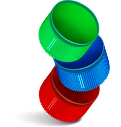 Plastic bottle cap vector