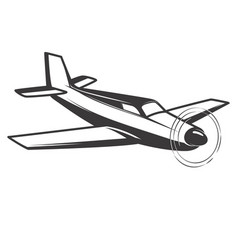 airplane isolated on white background vector image vector image