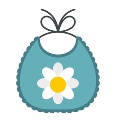 Baby bib icon flat style vector image vector image