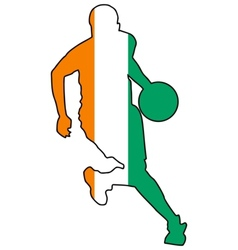 basketball colors of Ivory Coast vector image vector image