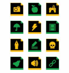 black icon vector image vector image