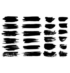 black paint brush spots highlighter lines vector image