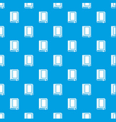 Book pattern seamless blue vector