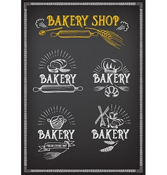 Bread and bakery design Sketch doodle vector image vector image