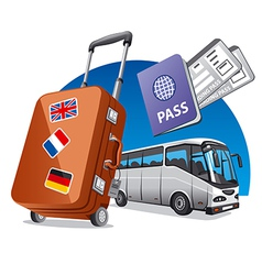 bus tourism vector image vector image