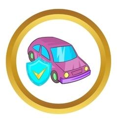 Car insurance icon vector