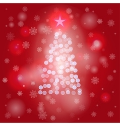 Christmas background with Christmas tree vector image vector image