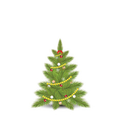 christmas tree with fir vector image vector image