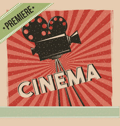 Cinema premiere movie retro poster vector