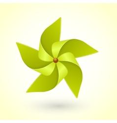 Colorful eco green pinwheel vector