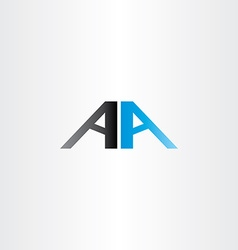 Double letter a aa logo icon vector