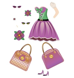 Fashion spring dress vector image