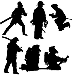 Firefighter Silhouette vector image vector image