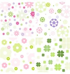Floral pattern set vector image vector image