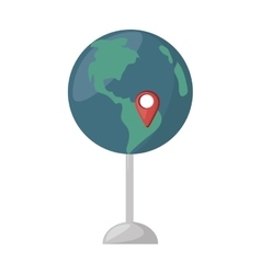 Globe map location continent vector