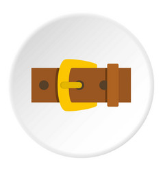 Gold buckle icon circle vector