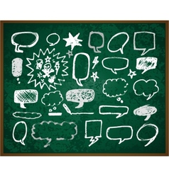 hand-drawn doodles on green school board vector image