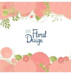 Hand drawn floral border vector
