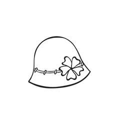 hat outline icon vector image