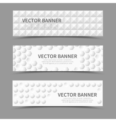 Horizontal banners with 3d geometric shapes vector
