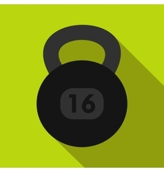 Kettlebell icon in flat style vector image vector image