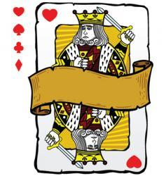 king playing card symbols vector image vector image