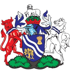 Oxfordhire county coat-of-arms vector