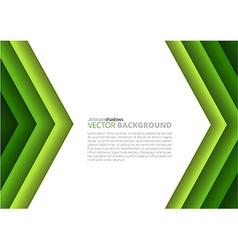 Paper a4 sheet green direction design vector image vector image