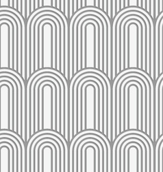 Perforated paper with arks on continues stripes vector