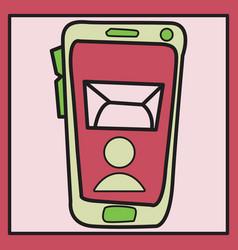 smartphone notification flat icon vector image