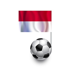 Soccer balls or footballs with flag of monaco vector
