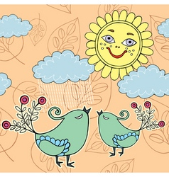 sunny day pattern vector image vector image