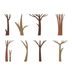tree trunk vector image vector image