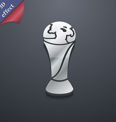 World cup icon symbol 3d style trendy modern vector