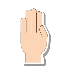 Hand human gesture isolated icon vector