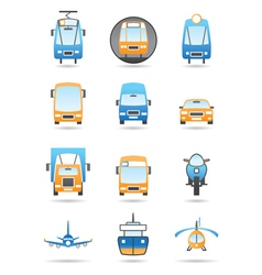 Different transportations icons set vector