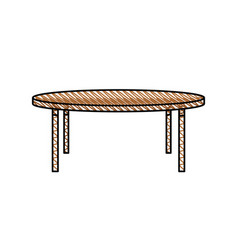 wooden table furniture decoration vector image