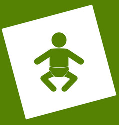 baby sign   white icon vector image
