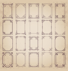 Large collection of vintage calligraphic frames vector
