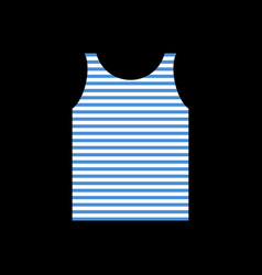 Sailor shirt singlet soldier navy army clothes vector