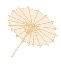 Traditional japanese or chinese umbrella vector