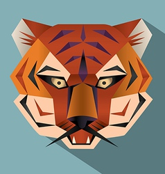Tiger face icon vector