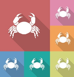 Icon of crab vector