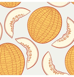 Melon seamless pattern vector