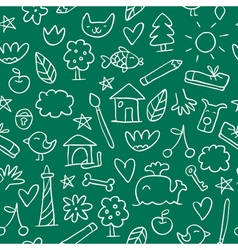 Seamless hand drawn pattern in sketchy style on vector