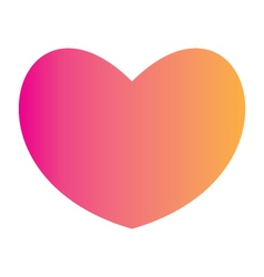 Gradient heart symbol vector