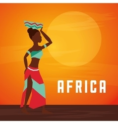 Africa design woman avatar icon graphic vector