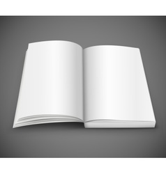 Open spread of book with blank white pages vector