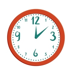 Wall clock icon in cartoon style vector image