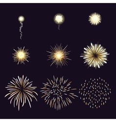Animation of firework effect in cartoon comic vector image